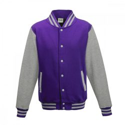 Just Hoods AWJH043 Purple/Heather Grey