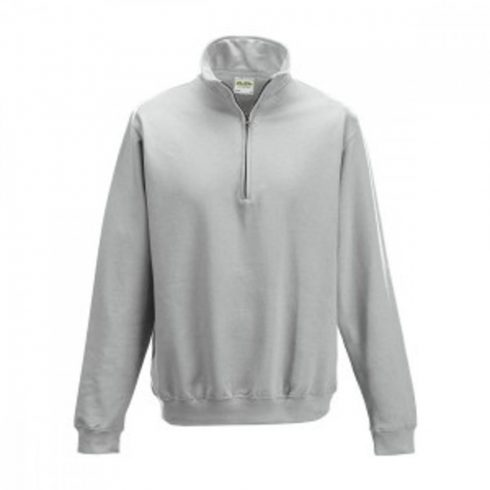 Just Hoods AWJH046 galléros pulóver, Heather Grey