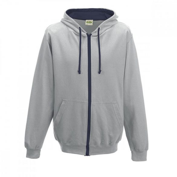 Just Hoods AWJH053 Heather Grey/French Navy