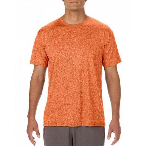 Gildan GI46000 Active fit Férfi póló, Heather Sport Orange