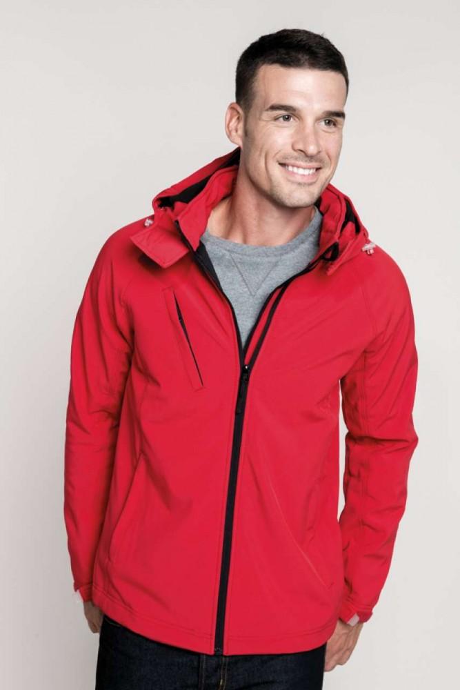 Kariban KA413 kapucnis férfi softshell dzseki, Navy