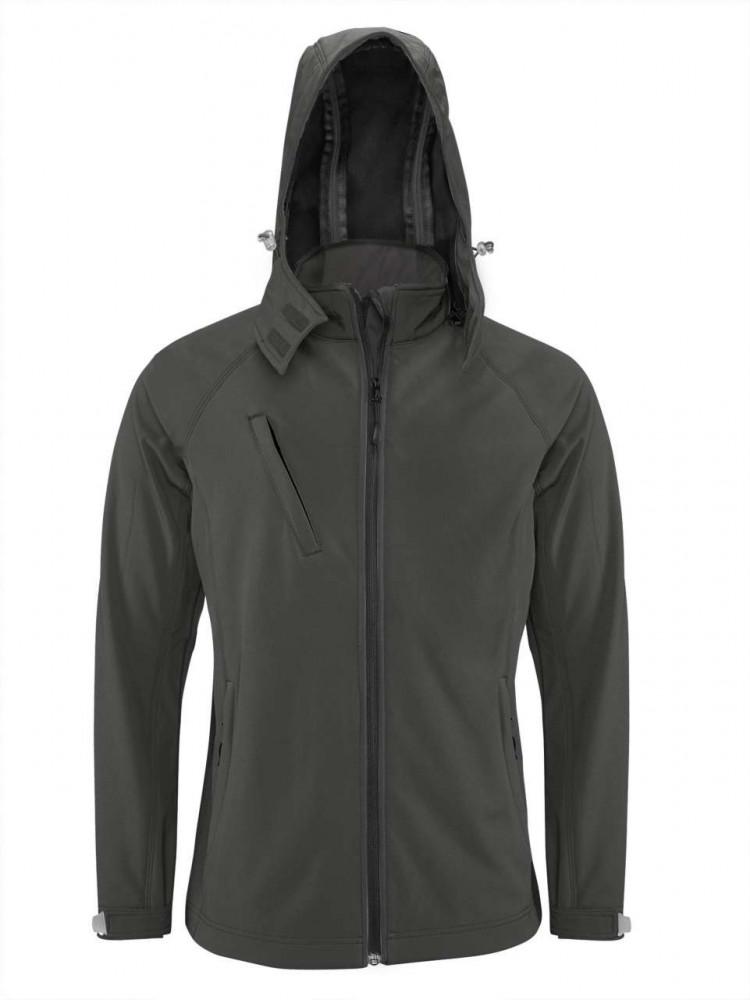Kariban KA413 kapucnis férfi softshell dzseki, Titanium