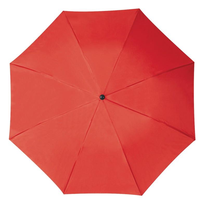 Összecsukható, teleszkópos esernyő, piros