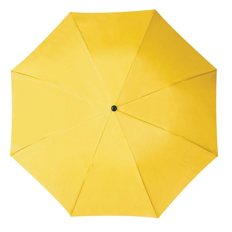 Összecsukható, teleszkópos esernyő, sárga