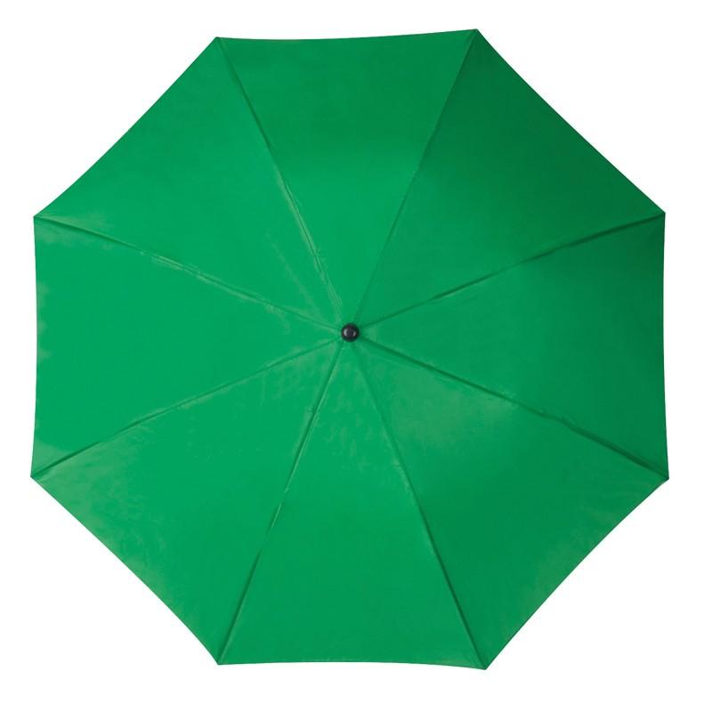 Összecsukható, teleszkópos esernyő, zöld
