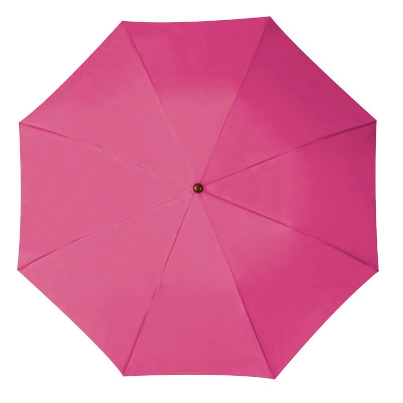 Összecsukható, teleszkópos esernyő, pink